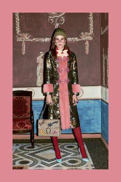 Glitter Coat Gucci Prefall 2016