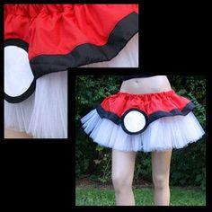 #Pokemon PokeBall Red White Costume TuTu All Sizes by mtcoffinz, $40.00
