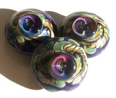 Desert Serpent JewelPurple Peacockhandmade lampwork bead  by Genea <3<3<3GORGEOUS<3<3<3 @