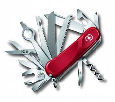 The Evolution 28 Swiss Army Knife, part of the Victorinox Delemont Collection is truly a toolbox that fits in your pocket. Evolution, Universal Wrench, Victorinox Swiss Army Knife, Victorinox Knives, Army Gears, Swiss Army Pocket Knife, Phillips Screwdriver, Utility Knife, Knives And Tools