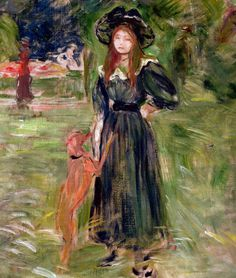 Berthe Morisot - Woods of Boulogne, 1893 (Musee Marmottan Monet - Paris France) at Museo Thyssen-Bornemisza Madrid Spain