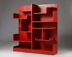 """Modernity Stockholm på Instagram: """"Part of the Holy Grail of Hjort's production. The Futurim bookshelf from 1929, with its original coral red lacquer, is a masterpiece of modernist sculpture"""""""
