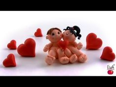 LET'S CLAY. How to make polymer clay VALENTINE - YouTube