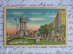 vintage Soldiers and Sailors Monument   New by nostalgictreasures