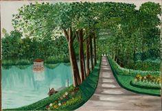 Allée près du lac By Henri Rousseau
