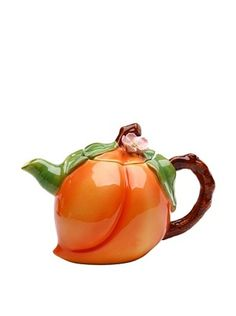 41% OFF Ceramic Hand-Made Peach Teapot