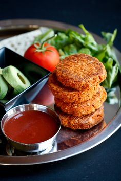 Smoky Barbecue Sweet Potato Chickpea Burgers with Fat-Free Barbecue Sauce | The Vegan 8