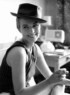 Jean Seberg in Breathless.  I love everything she wears in this film, and I wish I could pull off super short hair.