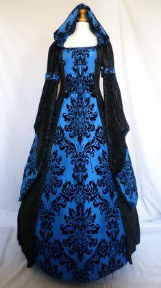 Gothique capuchon robe robe médiévale païenne par DJmedievaldresses