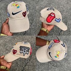 """Khaki """"What the Brand"""" Dad Cap - Pre-Order – SkyLife Boutique Custom Fitted Hats, Custom Caps, Fitted Caps, Dope Hats, Diy Vetement, Dad Caps, Scarf Hat, Headgear, Swagg"""
