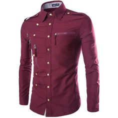 Military Style Men's Dress Shirts
