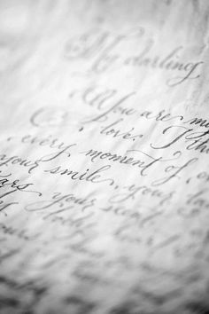 I love handwritten letters and pretty handwriting! Just Girly Things, Simple Things, Old Letters, Handwritten Letters, Cursive Script, Lost Art, Penmanship, Letter Writing, 3 Letter