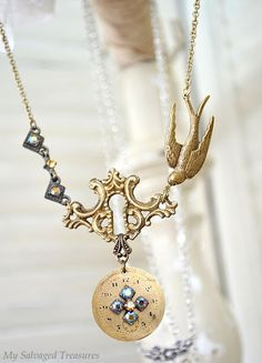 repurposed antique hardware into jewelry