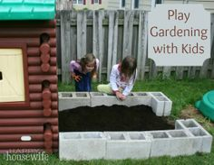Play Gardening with Kids ~ Gardening with kids can be a great way to give them responsibility and is also a great tool for imaginative play! | The Happy Housewife