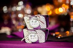 Froilan and Sherie's cute polka dot party favors! #weddingfavors #gift