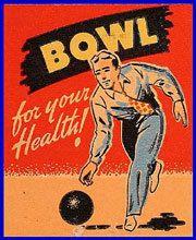 1950's Dick's Bowling Center Matchcover — Mason City, Iowa