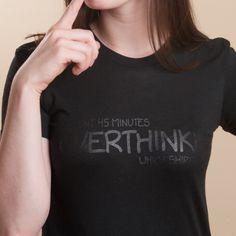 009ce86c Overthinking Shirt Shirt Designs, T Shirts For Women, Black, Printed Shirts,  Tops