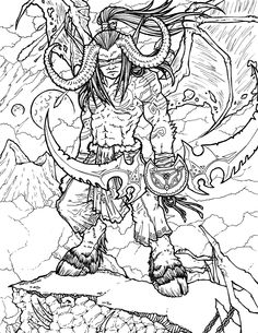 world of warcraft coloring book - Google Search | Adult Coloring ...