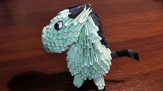 3D origami horse (pony, mule, donkey) tutorial (instruction)