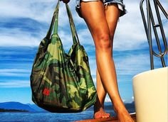 Our Isa Tote now in CAMO!  Just $35.  Get it!