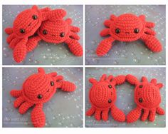 - Crab Amigurumi - by awkwardsoul.deviantart.com on @DeviantArt