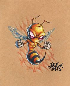 Avispaneitor: terrorize – Graffiti World Cartoon Kunst, Cartoon Drawings, Cartoon Art, Art Drawings, Graffiti Art, Graffiti Drawing, Graffiti Tattoo, Art And Illustration, Desenho New School