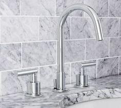 Exton Lever-Handle Widespread Bathroom Faucet, Chrome Finish