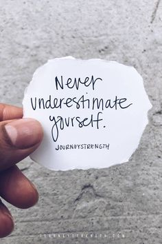 Never underestimate yourself. | Inspirational quotes | motivational quotes | motivation | personal growth and development | quotes to live by | mindset | self-care | strength | courage | You are enough | passion | dreams | goals | Journeystrength  #InspirationalQuotes  |  #motivationalquotes |  #quotes  |  #quoteoftheday  |  #quotestoliveby  |  #quotesdaily