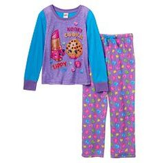 Girls 4-12 Shopkins Kooky Cookie & Lippy Lips Pajama Set