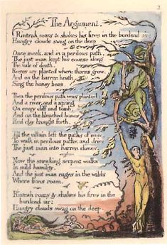 William Blake - he was notable for being quite odd,