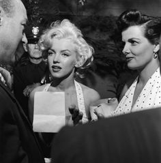 Marilyn and Jane Russell at Grauman's Chinese Theatre, June 26, 1953.