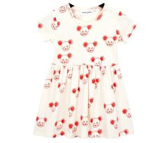Mini Rodini Mouse Aop SS DreSS Red| Kidsen.co.uk