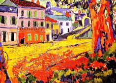Fauvism, Maurice de Vlaminck, Restaurant at Marly-le-Roi Henri Matisse, Raoul Dufy, Fauvism Art, Maurice De Vlaminck, Andre Derain, Georges Braque, Art Africain, Piet Mondrian, Post Impressionism