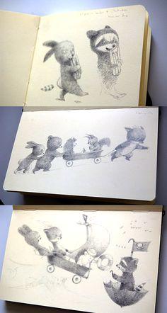 Illustrator Renata Liwska sketchbooks  http://www.renataliwska.com/