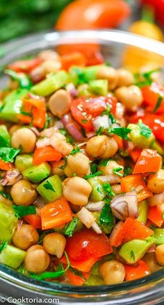 Best Salad Recipes, Lunch Recipes, Vegetable Recipes, Appetizer Recipes, Diet Recipes, Vegetarian Recipes, Cooking Recipes, Healthy Recipes, Vegetable Salad