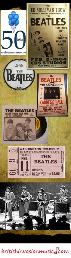 Visit britishinvasionmusic.com for Beatlemania and British Invasion artists. Over 300 videos (with lyrics), stories, pictures, biographies, and FREE guitar lessons. Special posts on the Beatles arrival in America.