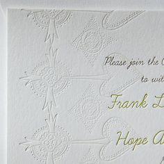 christening invitation by Linda + Harriett