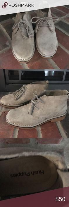 Hush puppy boots taupe suede Hush puppy boots taupe suede size 6 perfect condition no flaws Hush Puppies Shoes Ankle Boots & Booties