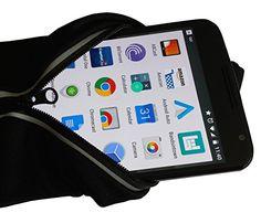 Running Belt Adjustable To Waist Size: 42, Fits The Biggest Smart Phones, Velcro or Slider/2-Way Reflective Zipper/Key Clip/Great for Running, Walking, Traveling, Start Running Hands Free Today! (Velcro)