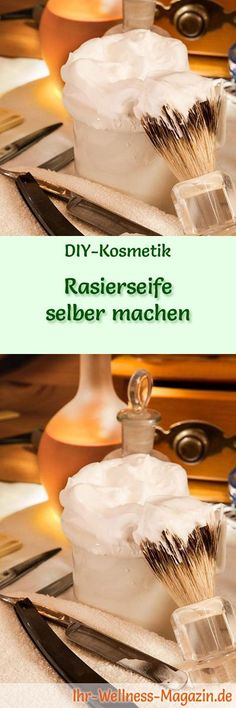 Do-it-yourself-Rasierseife – Seifenrezept & Anleitung – diy soap - Shaving Soap, Recipe Instructions, Hygiene, Soap Recipes, Polymer Clay Art, Soap Making, Vanilla Cake, Diy And Crafts, Homemade