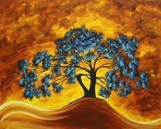 Abstract Art Original Landscape Painting Dreaming In Color By Madartmadart Painting by Megan Duncanson