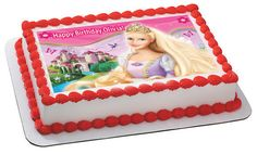 Barbie Edible Birthday Cake Topper