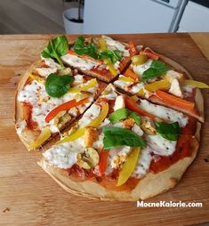 Today, another tasty, simple and at the same time dietary meal proposal. Pizza Recipes, Diet Recipes, Healthy Recipes, Healthy Meals, Pizza Cartoon, The Dish, Vegetable Pizza, Clean Eating, Tasty