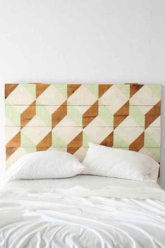 Oh My Wood! Geo Headboard