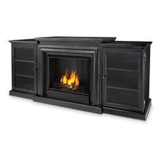 real flame frederick center ventless gel fireplace blackwash