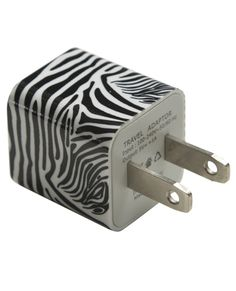 Truffol.com | Zebra Printed Wall Charger #usbcharger #wallcharger