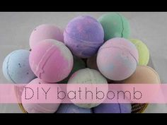 DIY Bath Bombs - YouTube. These bathbombs are fun and easy to make. In the store they are about $6 each. Since it's a diy you can have your own scent and color. Will surely be making these soon