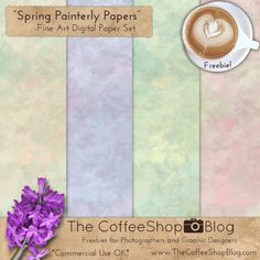 Today I have a new spring-inspired painterly digital paper pack. These papers can be used in any type of digital design such as scrapbook...
