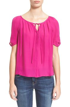 Free shipping and returns on Joie 'Berkeley' Silk Top at Nordstrom.com. Delicate pleats around the tied neckline set the feminine tone for a lithe silk top while gathered sleeves scrunch for a final finishing flourish.