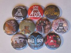 Fall Out Boy Pinback Buttons by BigButtonBoy. I need these in my life